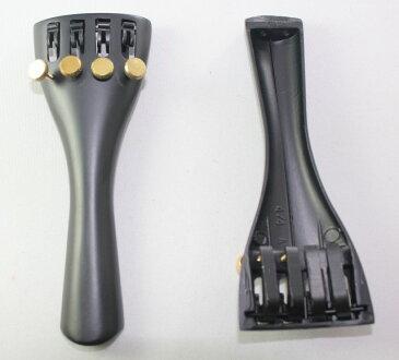 プラスチック ビルトイン・アジャスター テールピース ネジ:真鍮 4/4バイオリン