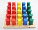 モンテッソーリ 円柱階段さし Montessori Cylinder Solid Ladder 知育玩具