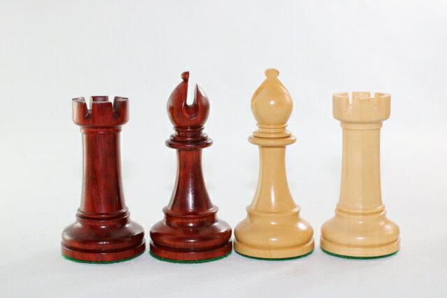 ハンドメイド高級 チェス駒セット ♪ヴェレッタ 柘植・インド紫檀♪  キング4.5インチ