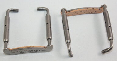 Gotzチタン製あご当て取り付け用の金具(スクリュー、クランプ♪バイオリン用♪Goetzゲッツ