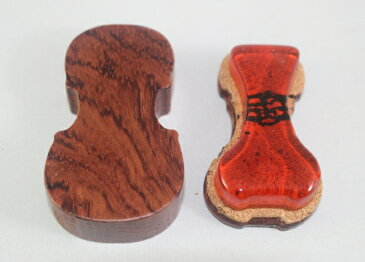 松脂 バイオリンの形をした高級紫檀木箱入り Made in Italy ロジン Rosin ♪バイオリン、ビオラ用♪
