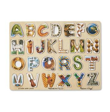 メリッサ&ダグ アルファベット・アート・パズル 木製 Melissa & Doug Alphabet Art Puzzle