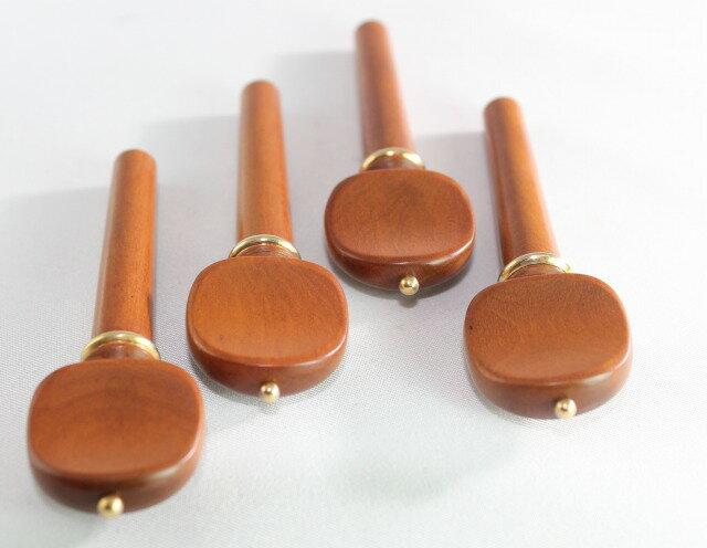ボックスウッド ペグ4本 ミルクール スタイル(ゴールド・ピン、ゴールド・カラー)