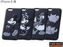 ディズニー・3Dレリーフ・ソフトジャケット(モノクロ) for iPhone 6 【メール便指定商品】iPhone6 NEW iPhone レイアウト ray・out ジャケット カバー iphone 6 ケース ディズニー