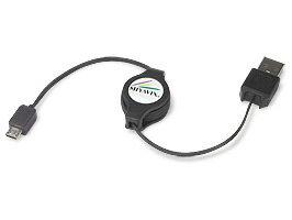 【メール便発送/今なら送料無料】リトラクタブル 充電ケーブル(Micro-USB Bタイプ) 【代引き不...