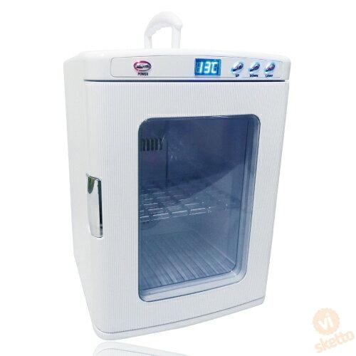 ポータブル保冷温庫XHC-25ホワイト(ピ保冷温庫保証付AC/DC車載可パーティイベントディスプレー型キャンプ山籠り店舗)