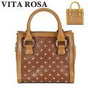 【送料無料】【VITA ROSA】スタッズアクセント2wayボックスハンドバッグ ショルダーバッグ VR-2717