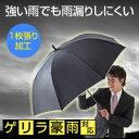 強い雨でも雨漏りしにくい傘!!【送料無料】ゲリラ豪雨対応傘