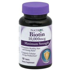 ビオチン(ビタミンH)10000mcg 100粒 ビオチン不足は美容の大敵!美容トラブルに必須のビタミン