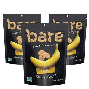 100% USDA認証オーガニックバナナチップス76.5g×3袋グルテンフリー、脂質ゼロ、白砂糖不使用、防腐剤不使用の安心バナナチップ人工香料、人工着色料不使用バナナUSDA認証 クランチーなノンフライ 非遺伝子組み換え有機バナナチップ