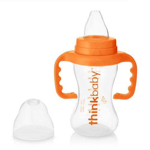 シンクベビー(thinkbaby) シッピーカップ オレンジ 255g赤ちゃんがミルクやジュースを飲みやすい持ち手つきカップ。トラベルトップ(キャップ)付きでこぼれにくい。9〜36カ月のベビーが対象。BPAフリーの安心素材画像
