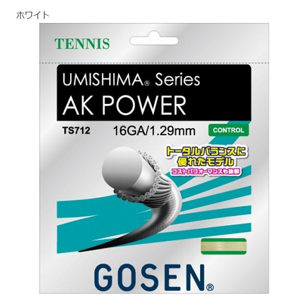 【送料無料】 【20張入】 ゴーセン GOSEN メンズ レディース テニス AK POWER 16 AKパワー 硬式テニスガット TS712