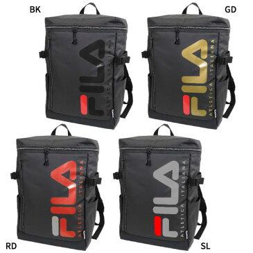 【送料無料】 フィラ FILA メンズ レディース スクエアリュック リュックサック デイパック バックパック バッグ 鞄 撥水 大容量 ボックス型 スクエア型 FL-0005