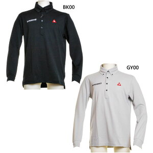 ルコックゴルフ メンズ ポロシャツ ゴルフウェア トップス 長袖 ロゴ 送料無料 le coq sportif GOLF QGMOJB14BE