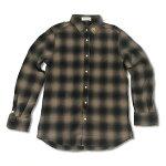 RHCRonHerman(ロンハーマン):ChillaxStudsネルシャツ(Beige)
