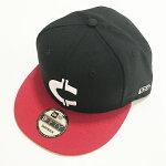 RHCRonHerman(ロンハーマン):Chillax×NEWERACロゴ9FIFTYSNAPBACKキャップ(Black/Red)