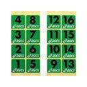 ビバスポーツで買える「ホールナンバーシール【ASICS】アシックスEQUIPMENT GROUND GOLF FLAG/EQ(GGG54S*29」の画像です。価格は153円になります。