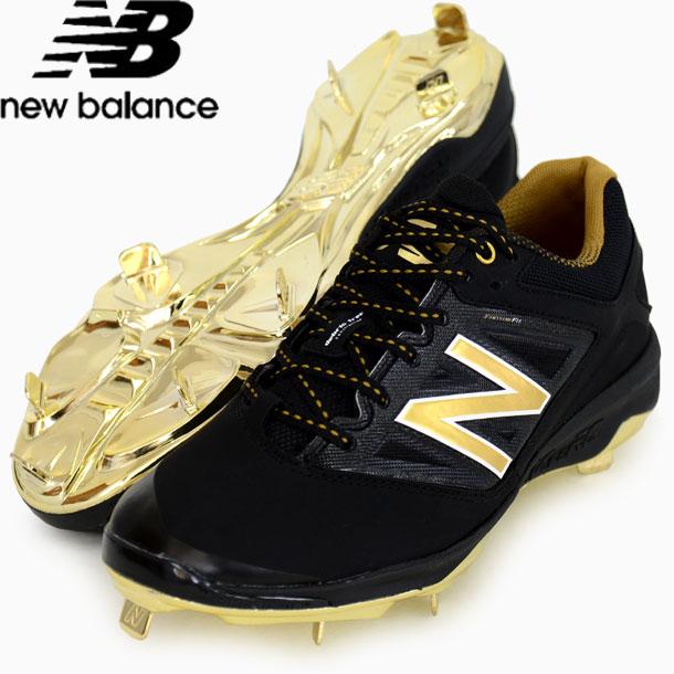 L4040 BG3【New Balance】ニューバランス 野球スパイク 限定カラー 16SS(L4040BG3D BLK/GOLD)*00 ニューバランス new balance L4040 BG3 l4040bg3