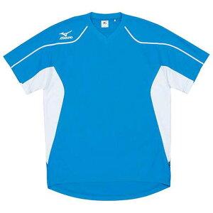 ゲームシャツ(サッカー) (18D.サックス) 【MIZUNO】ミズノ フットボール サッカー ウエア ゲームウエア (62hv20118)*60
