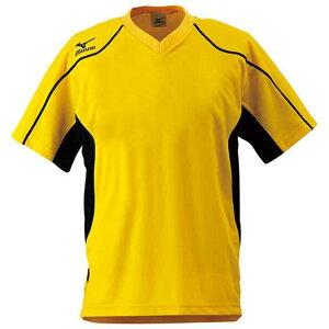 ゲームシャツ(サッカー) (46イエロー) 【MIZUNO】ミズノ フットボール サッカー ウエア ゲームウエア (62hv20146)*60