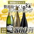 【送料無料】 スパークリングワイン 3本セット 辛口/泡/ワインセット/スパークリングワイン/スペインワイン【party】