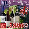【送料無料】黒ブドウ単一品種のワインを味わおう! 赤ワイン 4本セット A 辛口/ワインセット/フランスワイン/スペイン/ドイツ/チリ/金賞ワイン【party】