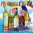 【送料無料】冷やして楽しもう♪ フランス産 白ワインとスパークリングワイン 5本セット B ワインセット/フランス/辛口