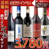 【送料無料】【ワインセット】お手頃ワインセット「赤ワイン」5本セット 辛口