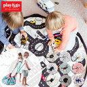 プレイマット play&go プレイ&ゴー 2way 巾着 おもちゃ 収納 バッグ 袋 簡単 お片付け 見せる収納 ラグ かわいい おしゃれ 北欧 キッズ 子供 マット 北欧 円形 丸 1歳 2歳 3歳 誕生日プレゼント