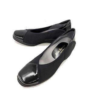 ◆【Miss Kyouko】ミスキョウコ 4E シンプルストレッチパンプス 12185(9650)日本製 靴 レディース 婦人靴●送料無料