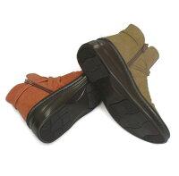◆InCholje(インコルジェ)足に優しい靴本革クロスストラップブーツ日本製靴レディース婦人靴送料無料