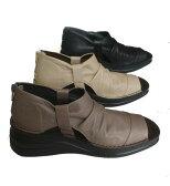 ・In Cholje(インコルジェ) 足に優しい靴 本革 オープントゥーシューズ 【楽々インソール】 日本製   靴 レディース 婦人靴●送料無料