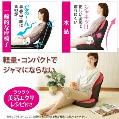 [勝野式美姿勢習慣]送料無料腰痛座椅子骨盤矯正クッション姿勢骨盤ケアが出来る座椅子骨盤腰痛対策肩こり座いす座イスザイスざいすリラックスチェアー