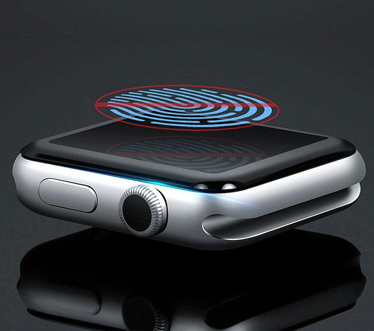 Apple Watch Series 4 40mm 44mm 3 2 38mm 42mm HD Film ガラスフィルム 全画面保護フィルム 強化ガラス 硬度9H 液晶保護ガラス フィルム 立体ラウンドタイプ 強化ガラスシート アップルウォッチ用液晶シールド
