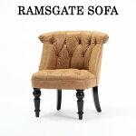 【ソファ1人掛け】【ラムズゲイトソファ】パーソナルソファ一人掛けソファー椅子いすキャメルPUレザー合皮洋書スタイル英国調イギリスAJ1P39K