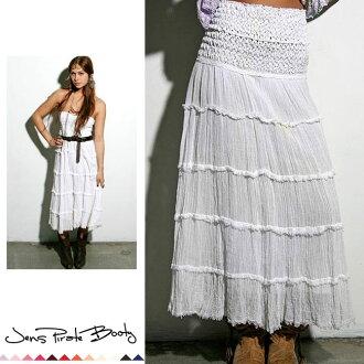 LA 名人最喜歡的品牌仁海盜的戰利品 Jens 海盜由茶圓裙裙子 & 美麗的白色