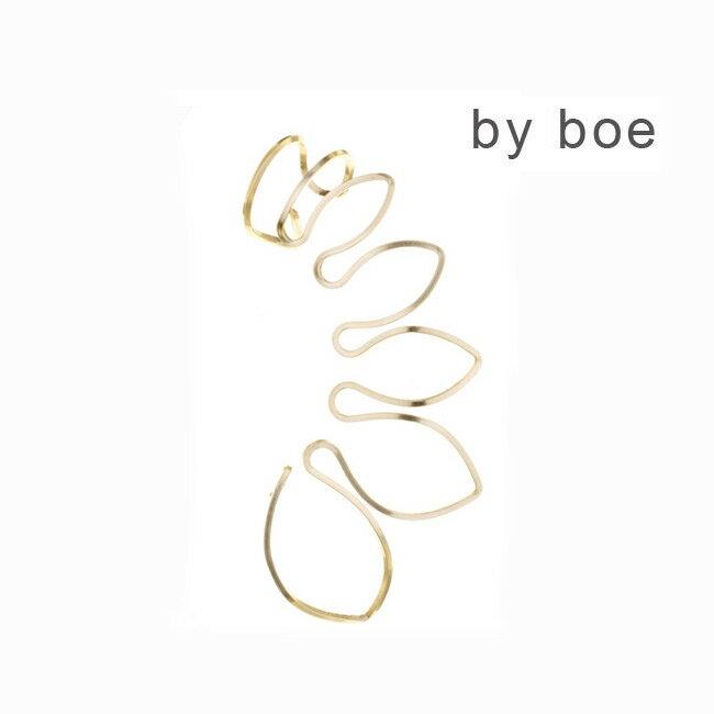 LAセレブ愛用ブランドby boeバイボーリーフみたいなモチーフがクール♪イヤーカフHang Tight Earring I E457 バイ・ボー byboe ワイヤー ゴールド シンプル おしゃれ かっこいい かわいい きれいめ インポート
