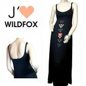 Wildfox  ワイルドフォックスwild foxポカホンタスマキシワンピース ブラック タンクワンピース
