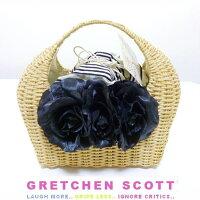 Gretchenscottグレッチェン・スコットブラックローズかごバッグ