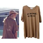 LAセレブ愛用 Wildfoxワイルドフォックスバックの手形がキュート♪チュニックTシャツ タン
