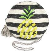 swarajスワラージ キュートなパイナップル刺繍♪ミニショルダー ボーダー ポシェット pineapple shoulder bag