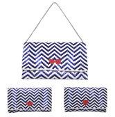 swarajスワラージ マリンカラーのビーズ刺繍♪クラッチバッグ ショルダー 2way clutch bag キスマーク ハート リボン パーティーバッグ