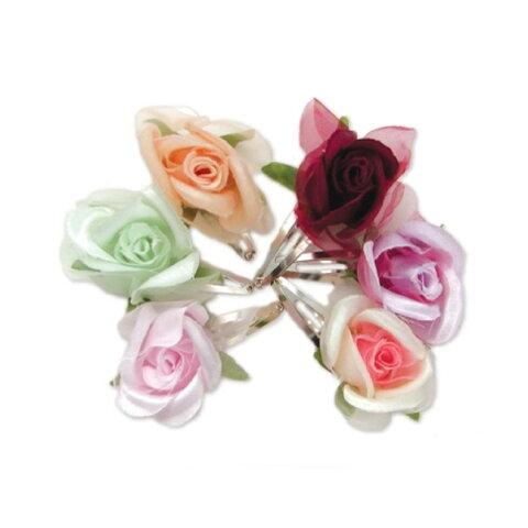 プチプラインポート♪ZADローズヘアクリップ ヘアアクセサリー バラ rose clip heir accessories
