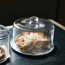 K19-0028M GLASS DOME M フタ エレガント ガラスドーム ガラス 台所 デザート皿 洋食器 ケーキ ガラスコ...