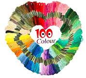 刺繍糸糸100色ししゅう糸パッチワークハンドメイドキット手芸編み物クロスステッチミサンガ