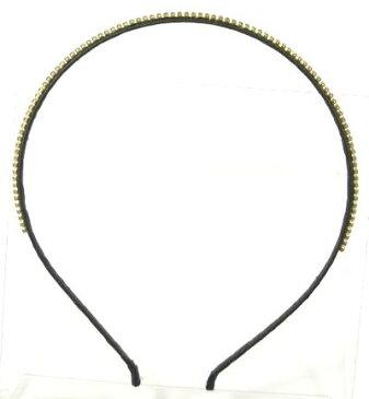 ベリースリム カチューシャ 極小上質ラインストーン 〔極細 ヘアバンド 髪飾り 結婚式 ヘアアクセサリー〕