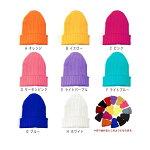メール便送料無料!【全24色カラーニット帽】ニットキャップ帽子スノーボード