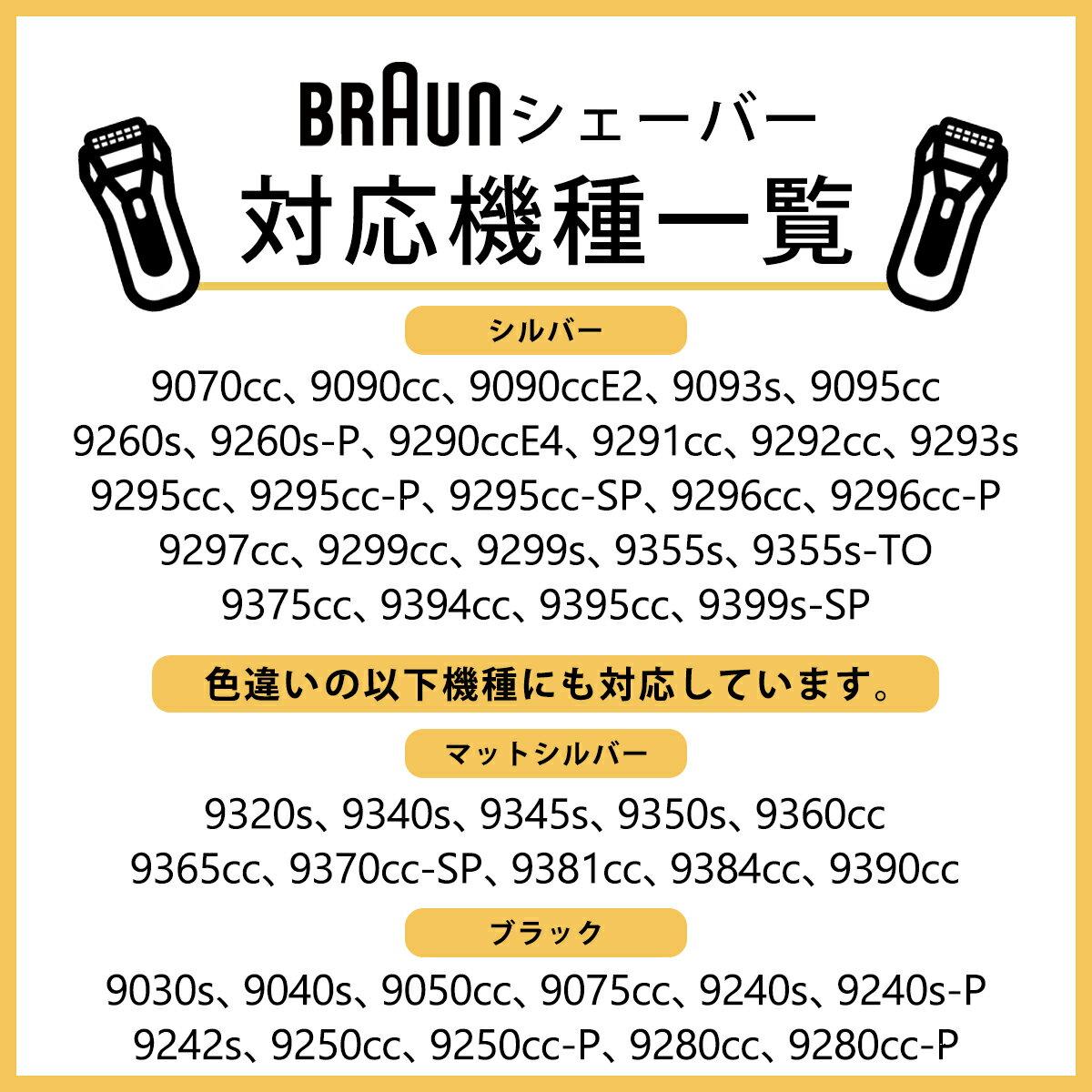 ブラウン 替刃 シリーズ9 90S (F/C90S F/C92S) 網刃 内刃 一体型 カセット シルバー シェーバー 髭剃り 替え刃 交換 純正品 海外正規品