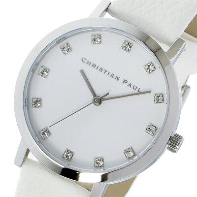 クリスチャンポール(CHRISTIAN PAUL)HAYMAN LUXE 35mm 腕時計 シルバー×ホワイト