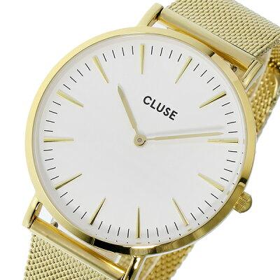 クルース(CLUSE)ラボエーム 腕時計 ゴールド×ホワイト 38mm